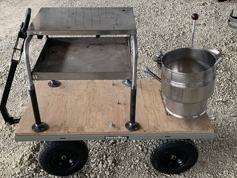 2.5 Gallon Steam Kettle on Cart
