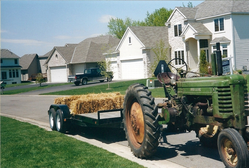 Original Tractor in 2001 Before Restoration Started